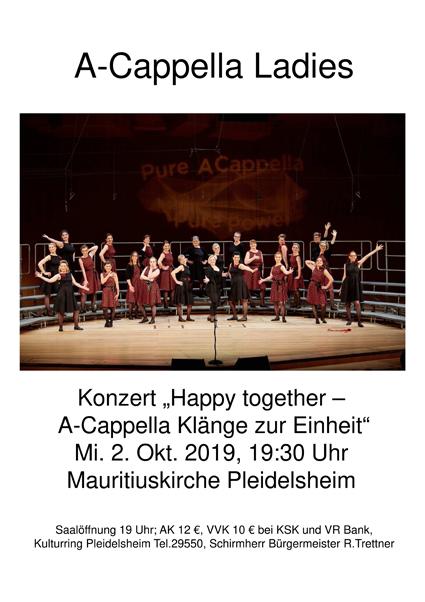 Abendkonzert Kulturring Pleidelsheim - 2019-Oct-02 | A